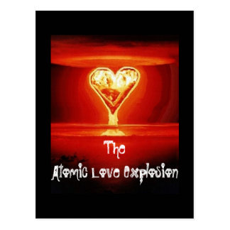 Postal de la explosión del amor