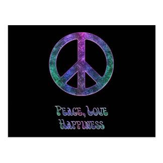 Postal de la felicidad del amor de la paz