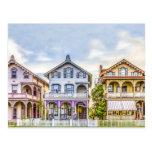 Postal de la fila de la casa del Victorian