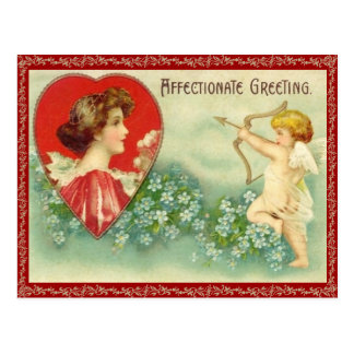 Postal de la flecha del Cupid del vintage