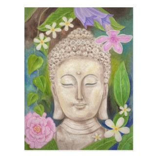 Postal de la flor de Buda
