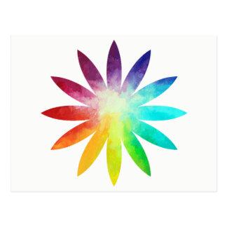 Postal de la flor del arco iris, postal del arco