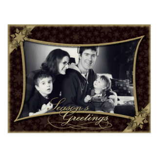 Postal de la foto de familia del día de fiesta de