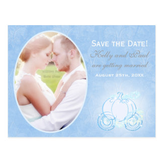 Postal de la foto de la fecha del boda del carro