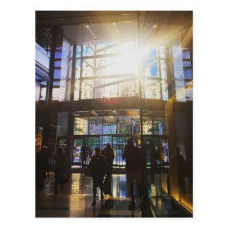 Postal de la foto de la luz del sol de New York