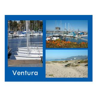 Postal de la foto de la orilla tres de Ventura