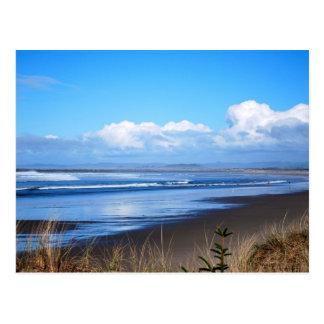 Postal de la foto de la playa del océano de Oregon