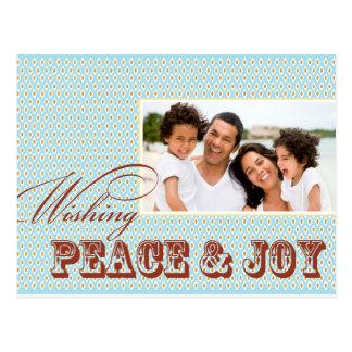 Postal de la foto del día de fiesta de la paz y de