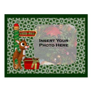 Postal de la foto del día de fiesta del navidad