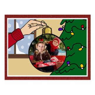 Postal de la foto del navidad