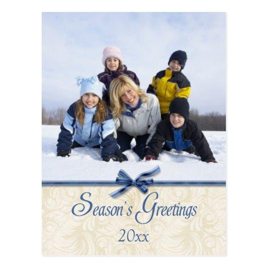 Postal de la foto del navidad de los saludos de la