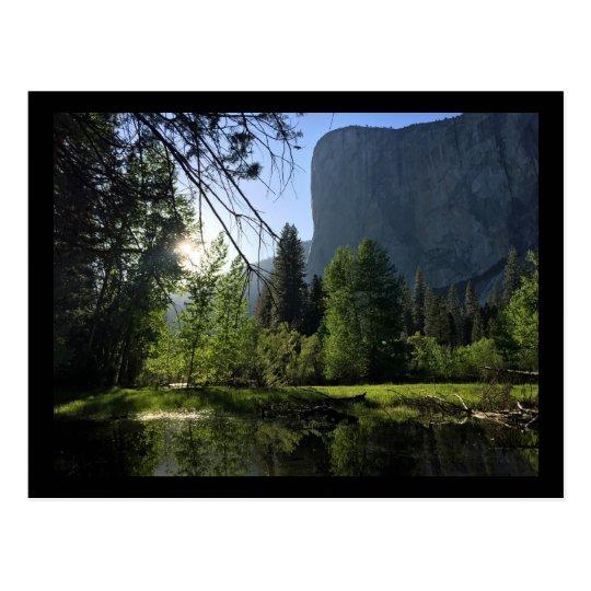 Postal de la foto del parque nacional de Yosemite