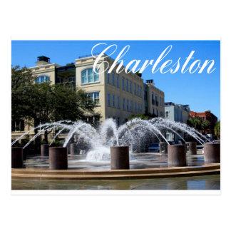 Postal de la fuente (SC) de Charleston Carolina de