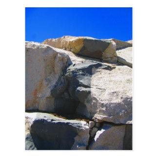 Postal de la geología del dique de la roca del