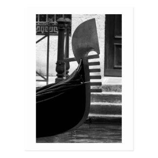 Postal de la góndola de Venecia
