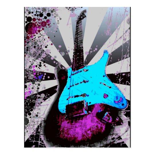 Postal de la guitarra eléctrica