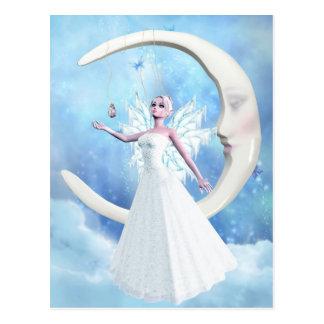 Postal de la hada del cielo de la luna