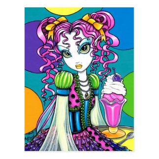 Postal de la hada del helado del arco iris de