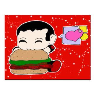 Postal de la hamburguesa