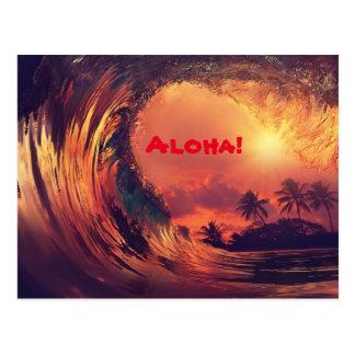 Postal de la hawaiana