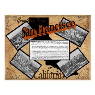 Postal de la historia de San Francisco del vintage