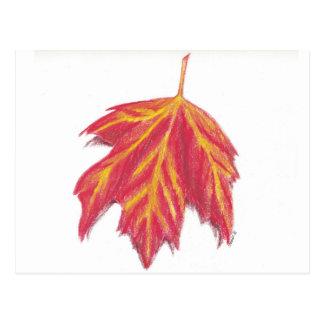 Postal de la hoja del otoño
