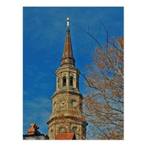 Postal de la iglesia de Charleston