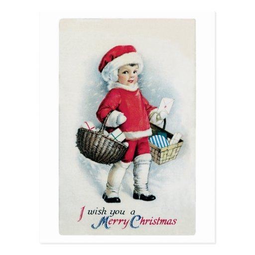 Postal de la imagen del navidad del vintage