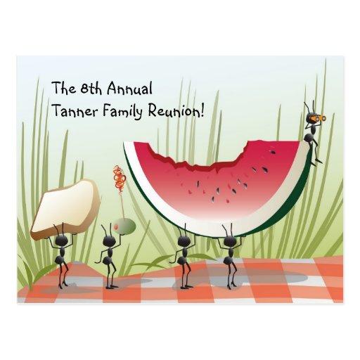 Postal de la invitación de la reunión de familia