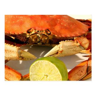 Postal de la invitación del banquete del cangrejo