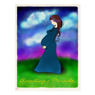 """Postal de la invitación del embarazo de la """"pacien"""
