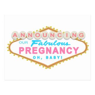Postal de la invitación del embarazo de Las Vegas