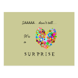 Postal de la invitación del fiesta de sorpresa del