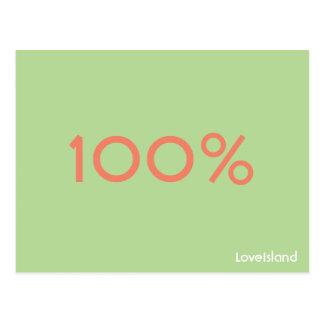 Postal de la isla del amor del 100%