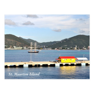 Postal de la isla del St. Maarten