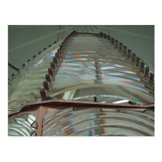 Postal de la lente del faro de Fresnel