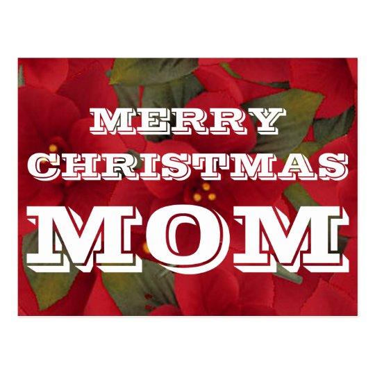 Postal de la mamá de las Felices Navidad