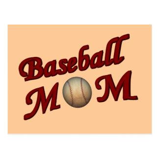 Postal de la mamá del béisbol