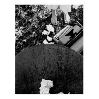 Postal de la máquina de escribir