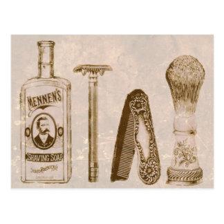 Postal de la maquinilla de afeitar del equipo de