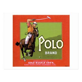 Postal de la marca del polo