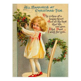 Postal de la marea del navidad del vintage
