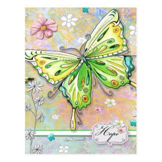 Postal de la mariposa de la esperanza