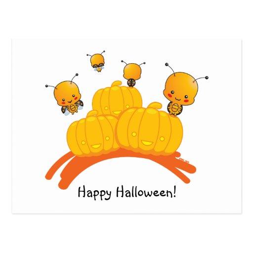 Postal de la mariquita del feliz Halloween