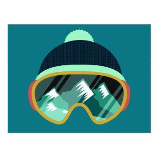 Postal de la máscara de esquí
