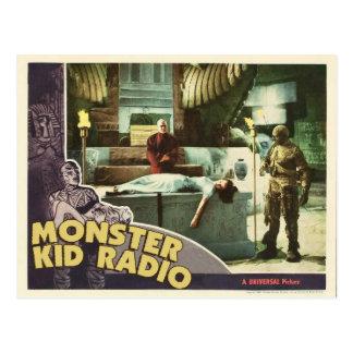 Postal de la momia de la radio del niño del