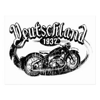 Postal de la motocicleta del vintage de
