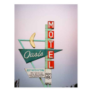 Postal de la muestra del motel del vintage del Rt