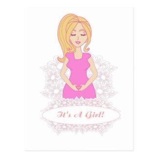 postal de la mujer embarazada