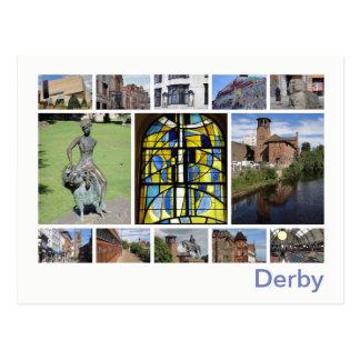 Postal de la multi-imagen de Derby